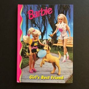 5/$25 VTG BARBIE Girl's Best Friend Kids Book 90s